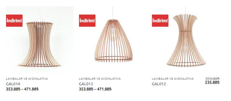Aydınlatma GüzelArt Sarkıt Lamba Fiyatları